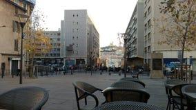Spojrzenie od caffe Marseille, Le Vieux port - obraz royalty free