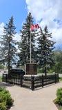 Spojrzenie przy kanadyjską flagą fotografia royalty free