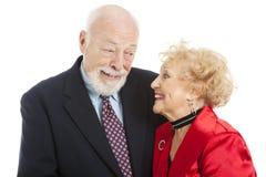 spojrzenie wakacyjni znają seniory fotografia stock