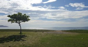 Spokój i Relaksuje - Opróżnia miejsce na plaży Zdjęcia Royalty Free