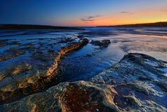 Spokój kołysa seascape Zdjęcia Royalty Free