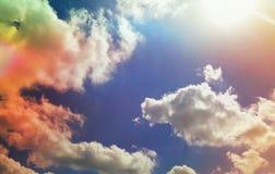 Spokój kolory w niebie zdjęcie royalty free