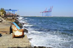 Spokój na obrzeżach port morski Zdjęcie Royalty Free
