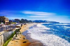 Spokój na St Clairs plaży Nowa Zelandia zdjęcia royalty free
