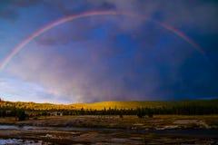 Spokój Po burzy, Yellowstone park narodowy zdjęcia royalty free