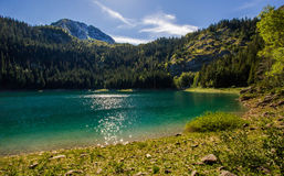 Spokój przy jeziorem, Montenegro Obraz Stock