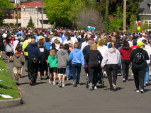 Spokane Bloomsday Runners 2010 royalty free stock image
