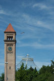 Spokane Clock Tower and Pavilion Stock Images