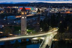 Spokane e rio Front Park foto de stock royalty free