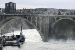 Spokane flod Fotografering för Bildbyråer