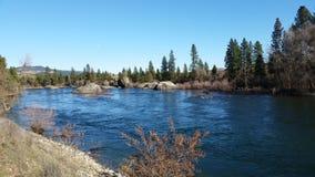 Spokane-Fluss Lizenzfreies Stockfoto