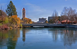 Spokane, Wa - parque do beira-rio na mola adiantada Fotografia de Stock