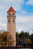 Spokane washington. Clock tower at riverside park royalty free stock photo