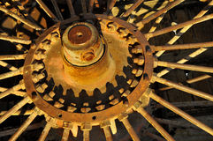 Spoke Steam Engine Wheel. To Transfer Borax from Mines in Death Valley, California Stock Photos