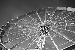 Spoke structure of a Ferris wheel Stock Image