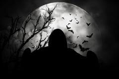 Spoken in afschuwelijke Halloween-nacht Stock Afbeeldingen