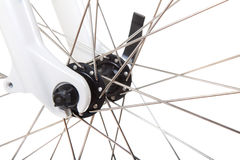 Spokes on bicycle wheel isolated Royalty Free Stock Image