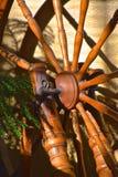 Spokes en wiel van een spinnewiel royalty-vrije stock foto