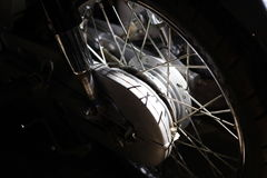 Spokes motorcycle wheel with brake system Stock Images