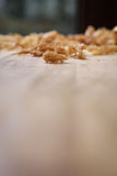 Spokeshave Sapele Hardwood Board Chip Shavings Royalty Free Stock Image