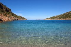 Spokojna błękitna denna zatoczka Obrazy Royalty Free