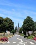 Spokojna Francuska wioska święty Denis De Gastines obrazy stock