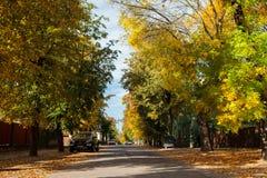 Spokojna i malownicza ulica w Zverynas okręgu w Vilnius, Zaświecającym Zdjęcia Stock
