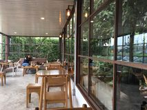Spokojna kawowa kawiarnia Fotografia Stock