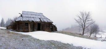 spokojna krajobrazowa halna zima Obrazy Royalty Free