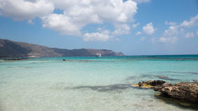 Spokojna plażowa scena przy elafonisi Fotografia Stock