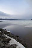 Spokojna scena Spławowy lód Zdjęcia Stock