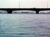 Spokojna woda krajobrazu tła tekstura Obraz Stock