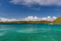 Spokojna zatoka w Antigua Zdjęcia Stock