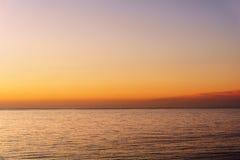 Spokojnego morza afterglow Zdjęcie Royalty Free