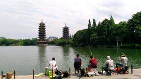 Spokojni rybacy zdjęcia royalty free