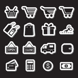 spokojnie redaguje ikona wyznaczonym zakupy wektora Simplus serie Zdjęcia Stock