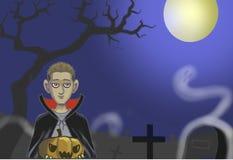 spokojnie redaguje noc Halloween obrazu wektora zdjęcie royalty free