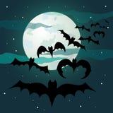 spokojnie redaguje noc Halloween obrazu wektora Zdjęcie Stock