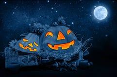 spokojnie redaguje noc Halloween obrazu wektora Fotografia Stock