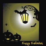 spokojnie redaguje noc Halloween obrazu wektora Obraz Stock