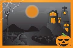 spokojnie redaguje noc Halloween obrazu wektora Obrazy Royalty Free