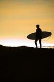 spokojnie sufer słońca oceanu Fotografia Stock