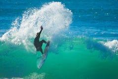 spokojnie, surfer Zdjęcia Stock