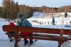 spokojnie zimę Zdjęcia Royalty Free