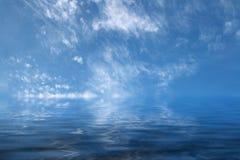 Spokojny błękitny morze Fotografia Stock