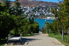 Spokojny błękitny morze w Bodrum, Turcja Obraz Stock