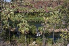 Spokojny basen, gazonu wzgórza wąwóz Obraz Royalty Free
