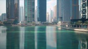 Spokojny biurowy miejsca 4k czasu upływ od Dubai zdjęcie wideo