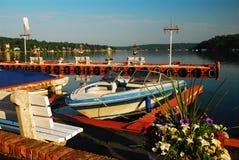 Spokojny dzień na jeziorze zdjęcia royalty free