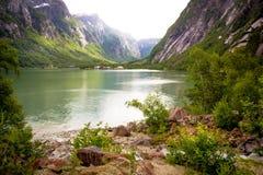 Spokojny fjord Obraz Royalty Free